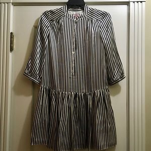 NWT Juicy Couture Silk Striped Dress w/ 3/4 Sleeve